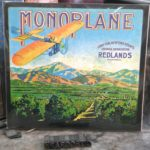 Mono Plane Orange Crate Label