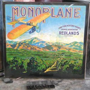 Mono Plane Orange Crate Label