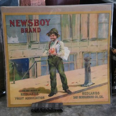 Newsboy Vintage Orange Crate Label