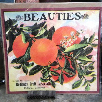 Redlands Beauties Orange Crate Label