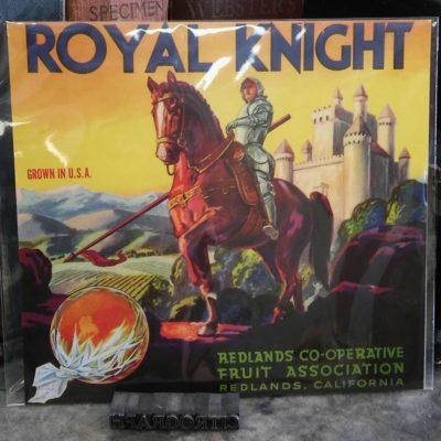 Royal Knight Orange Crate label